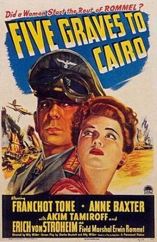 Imagen de portada de Cinco tumbas a El Cairo (1943)