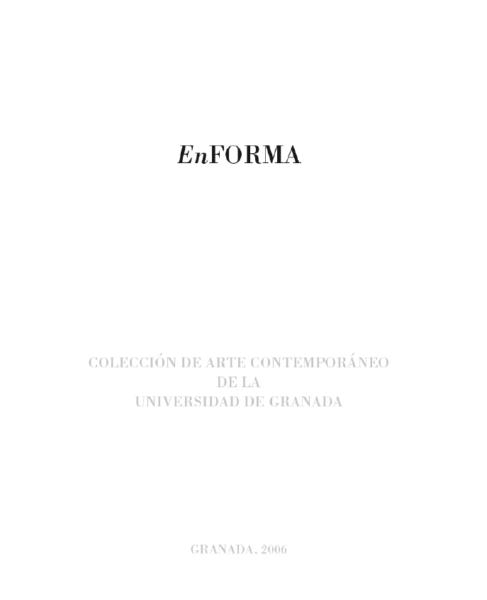 Imagen de portada de EnFORMA -Colección de arte contemporáneo