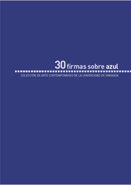 Imagen de portada de 30 firmas sobre azul