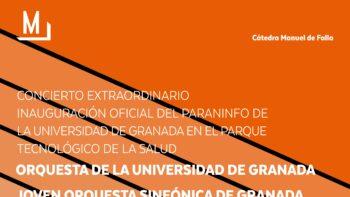 Imagen de portada de ORQUESTA DE LA UGR Y JOVEN ORQUESTA SINFóNICA DE GRANADA Concierto extraordinario inauguración oficial del Paraninfo de la UGR en el Parque Tecnológico de la Salud