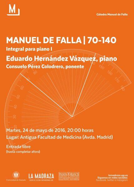 Imagen de portada de MANUEL DE FALLA | 70-140: INTEGRAL PARA PIANO I