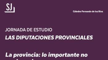 Imagen de portada de Jornada de estudio «Las Diputaciones Provinciales»