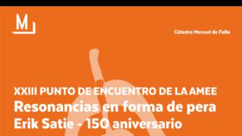 Imagen de portada de HOMENAJE A ERIK SATIE – 150 ANIVERSARIO XXIII Punto de encuentro de la AMEE. Resonancias en forma de pera