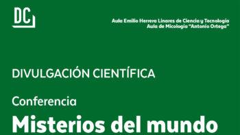 Imagen de portada de RICARDO GALáN MáRQUEZ Conferencia «Misterios del mundo de los hongos»