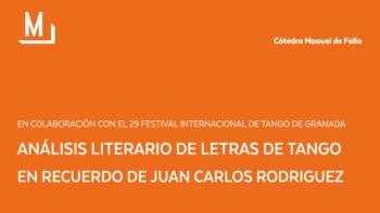 Imagen de portada de Análisis Literario de letras de Tango. En recuerdo de Juan Carlos Rodríguez