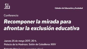 Imagen de portada de JUAN MANUEL ESCUDERO MUñOZ Conferencia «Recomponer la mirada para afrontar la exclusión educativa»