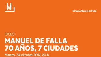 Imagen de portada de Concierto «Falla 70 años / 7 ciudades»