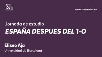 Imagen de portada de Conferencia «España después del 1-O»