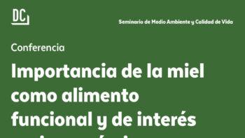 Imagen de portada de FELIPE PASCUAL TORRES Conferencia «Importancia de la miel como alimento funcional y de interés socioeconómico»