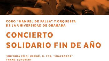 Imagen de portada de CORO «MANUEL DE FALLA» Y ORQUESTA DE LA UNIVERSIDAD DE GRANADA CONCIERTO SOLIDARIO FIN DE AÑO