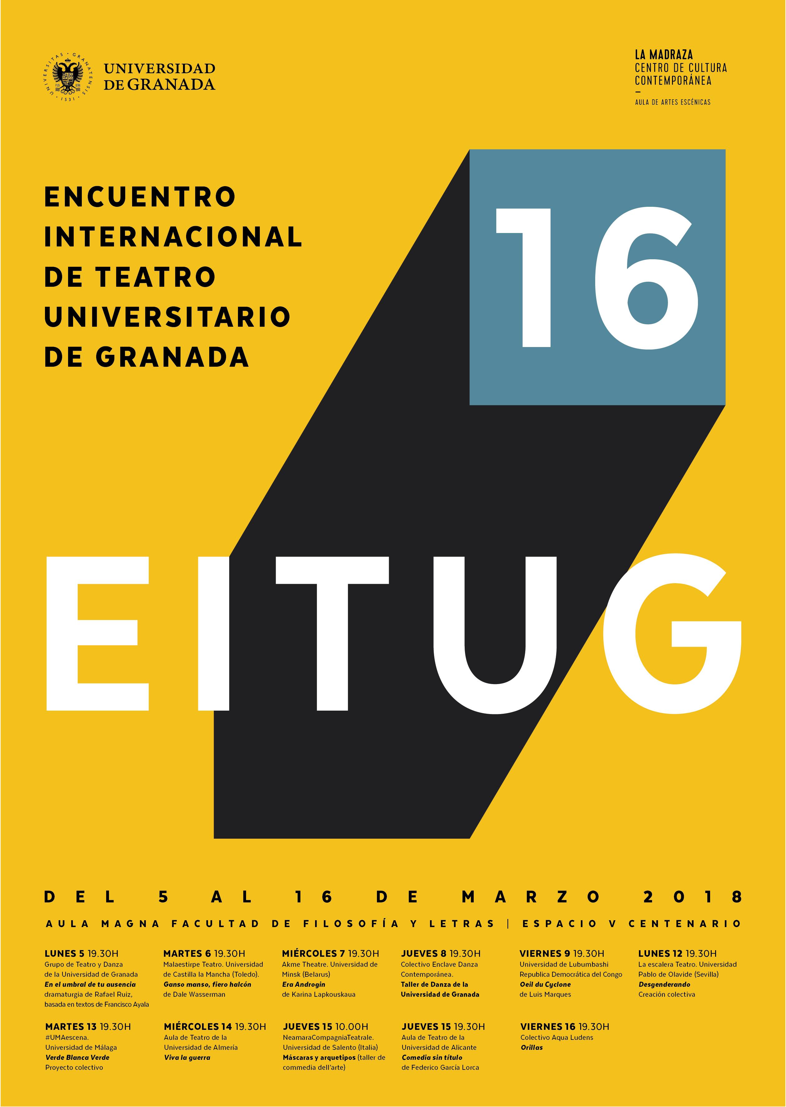 Imagen de portada de 16º Encuentro Internacional de Teatro de la UGR