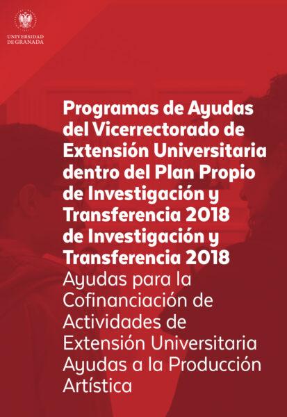 Imagen de portada de Programas de Ayudas del Vicerrectorado de Extensión Universitaria