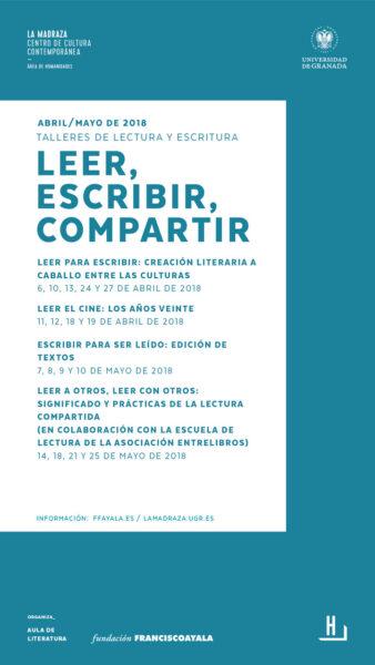 """Imagen de portada de Talleres de lectura y escritura """"LEER, ESCRIBIR, COMPARTIR"""""""