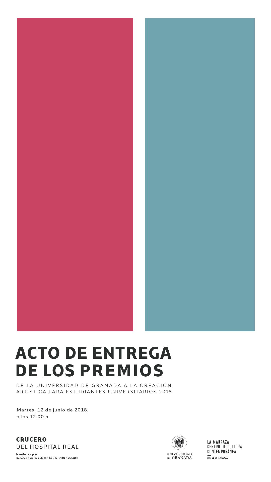Imagen de portada de Premios de la UGR a la creación artística para estudiantes universitarios