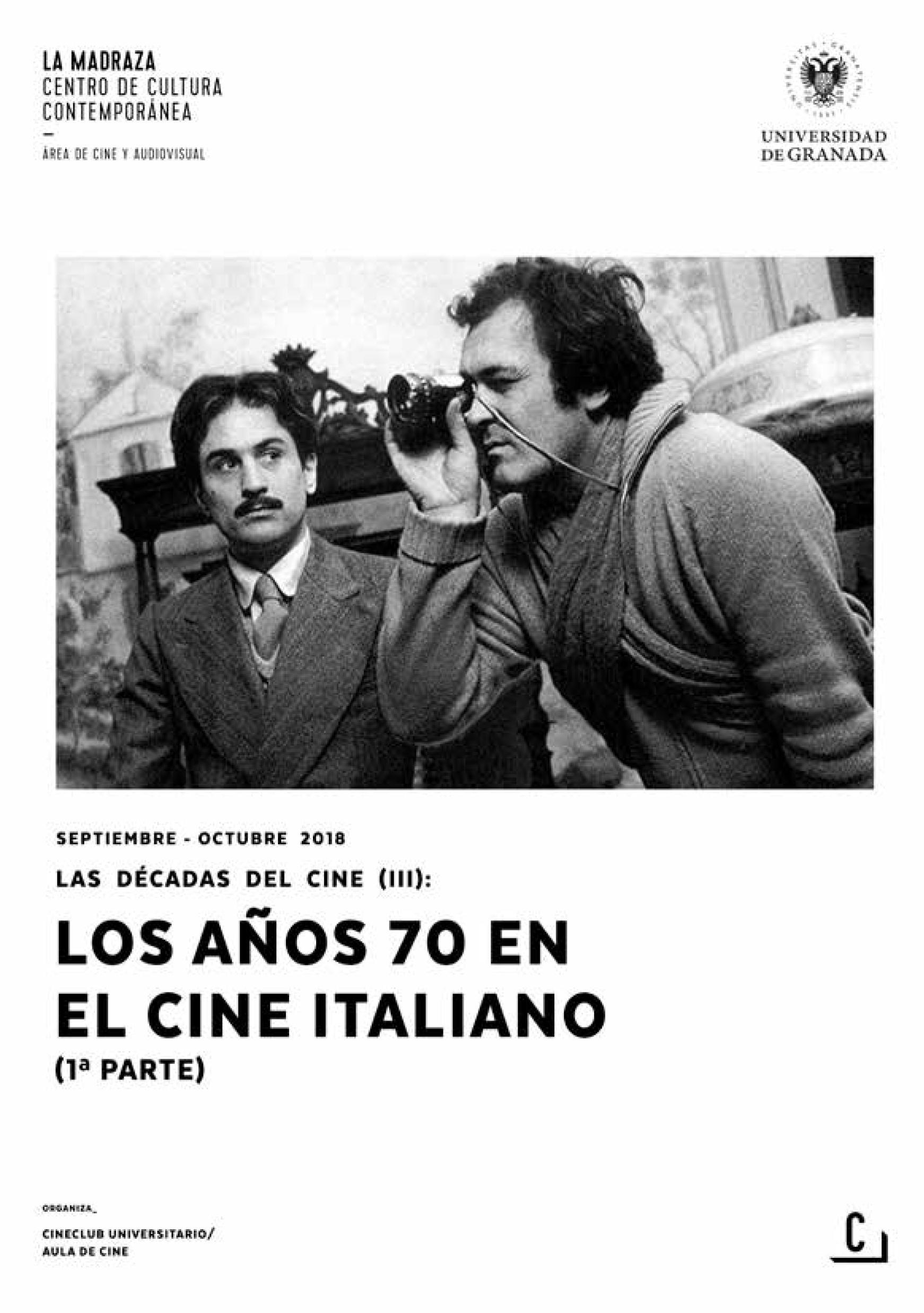 Imagen de portada de Las décadas del cine (III): los años 70 en el cine italiano (1ª parte)
