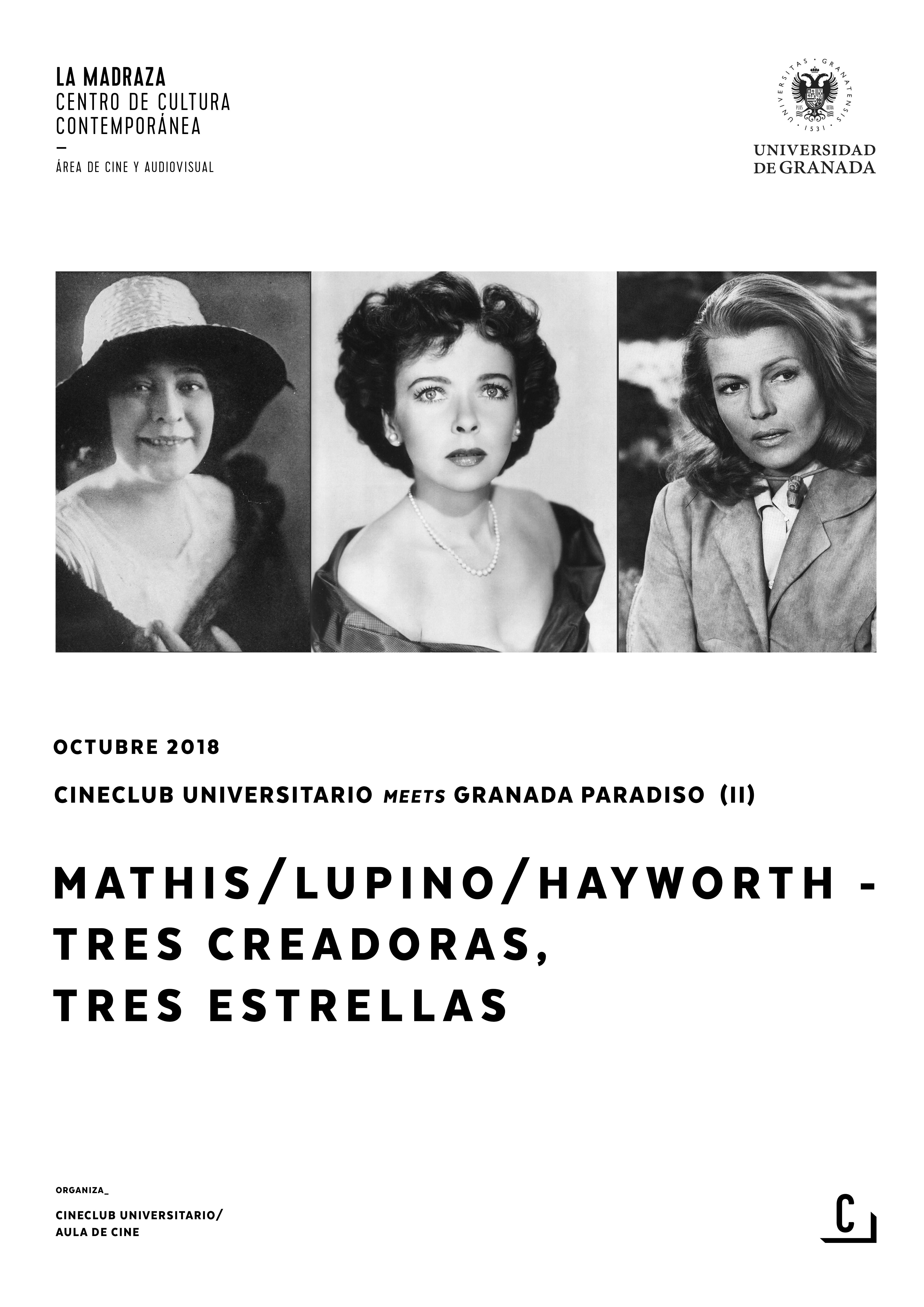 Imagen de portada de Mathis/Lupino/Hayworth – Tres creadoras, tres estrellas