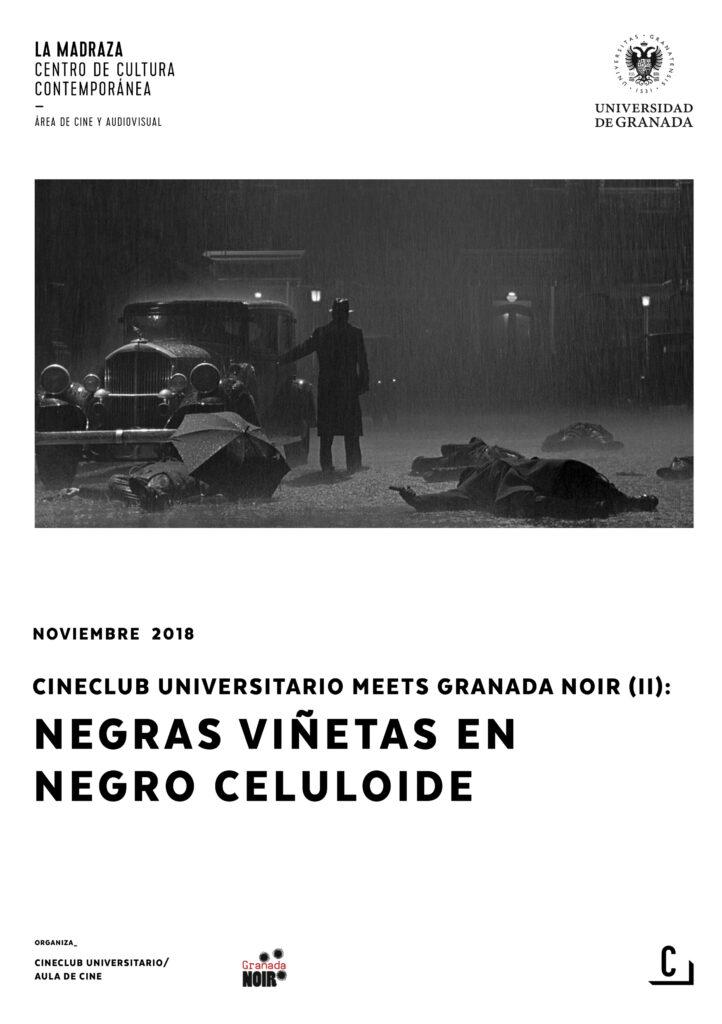 Imagen de portada de Cineclub universitario meets Granada Noir (II): negras viñetas en negro celuloide