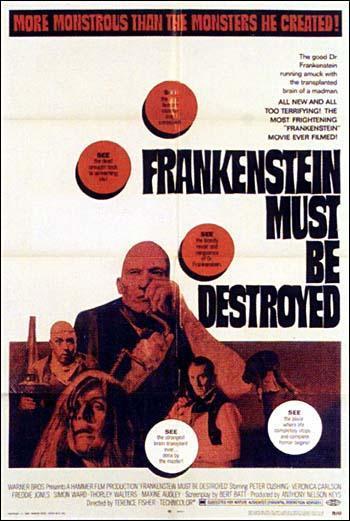 Imagen de portada de El cerebro de Frankenstein (1969)