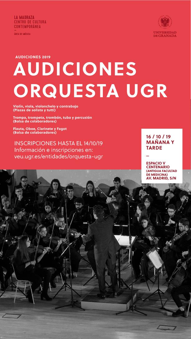 Imagen de portada de Audiciones Orquesta UGR – 2019