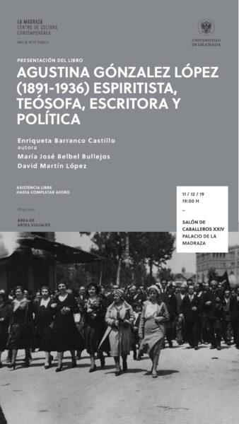 Imagen de portada de Agustina González López (1891-1936) espiritista, teósofa, escritora y política
