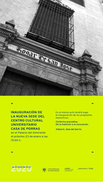 Imagen de portada de Inauguración de la nueva sede del centro cultural universitario Casa de Porras