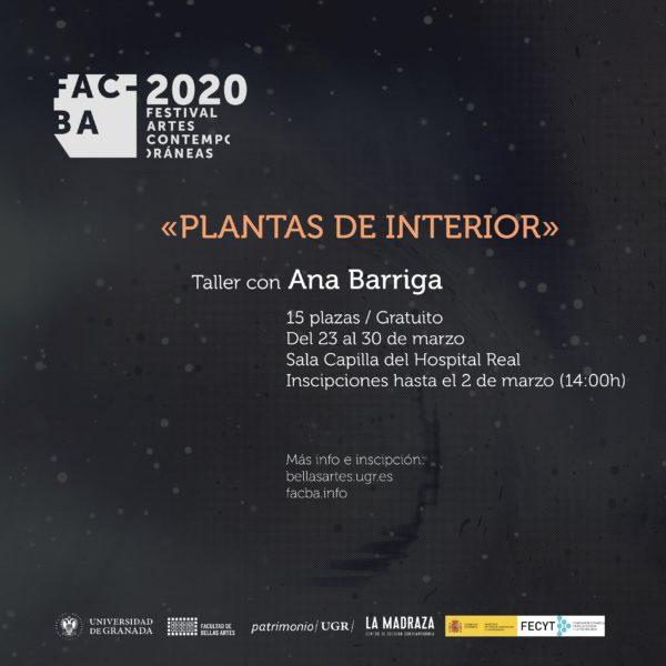 Imagen de portada de Taller de Ana Barriga »Plantas de Interior»