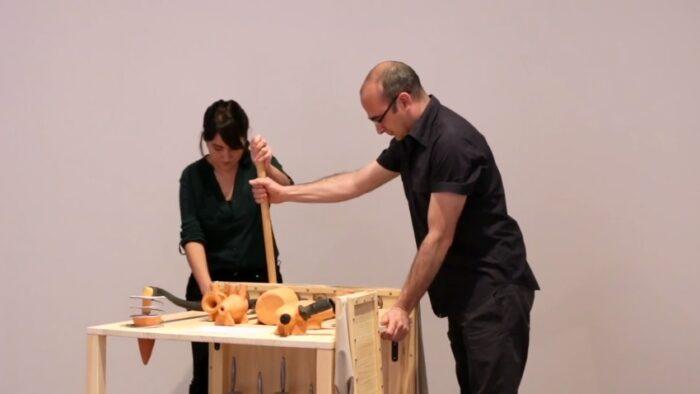 Imagen de portada de Exposición «Enciclolalia. Arqueología del habla», de Alegría y Piñero