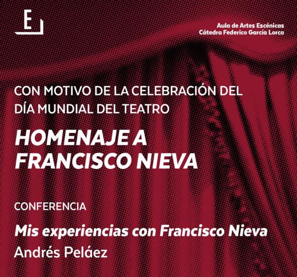 Imagen de portada de Sugerencia del día: Conferencia «Mis experiencias con Francisco Nieva»