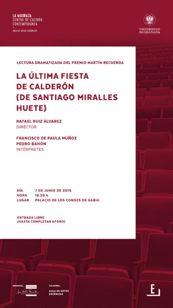 Imagen de portada de Sugerencia del día: Lectura dramatizada «La última fiesta de Calderón»