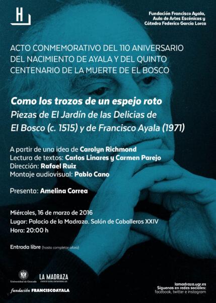Imagen de portada de Sugerencia del día: 'Como los trozos de un espejo roto' – Homenaje a Francisco Ayala y El Bosco