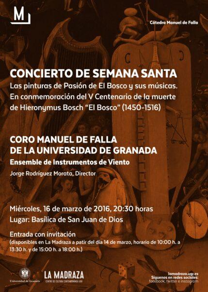 """Imagen de portada de Sugerencia del día: Concierto """"Las pinturas de Pasión de El Bosco y sus músicas"""""""