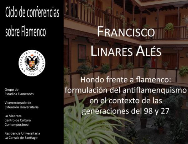 Imagen de portada de Sugerencia del día: Conferencia «Hondo frente a flamenco: formulación del antiflamenquismo en el contexto de las generaciones del 98 y 27»