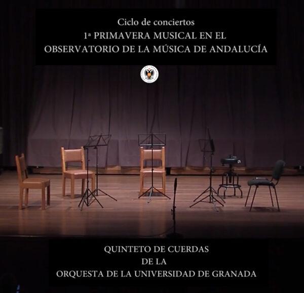 Imagen de portada de Sugerencia del día: Concierto «Quinteto de Cuerdas de la Orquesta de la UGR»