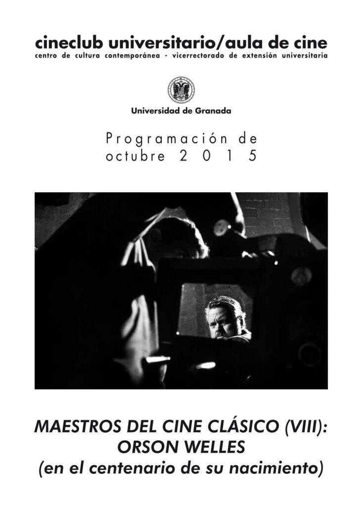 Imagen de portada de Maestros del cine clásico (VIII): Orson Welles (en el centenario de su nacimiento)