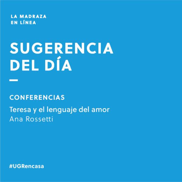 Imagen de portada de Sugerencia del día: Conferencia «Teresa y el lenguaje del amor»