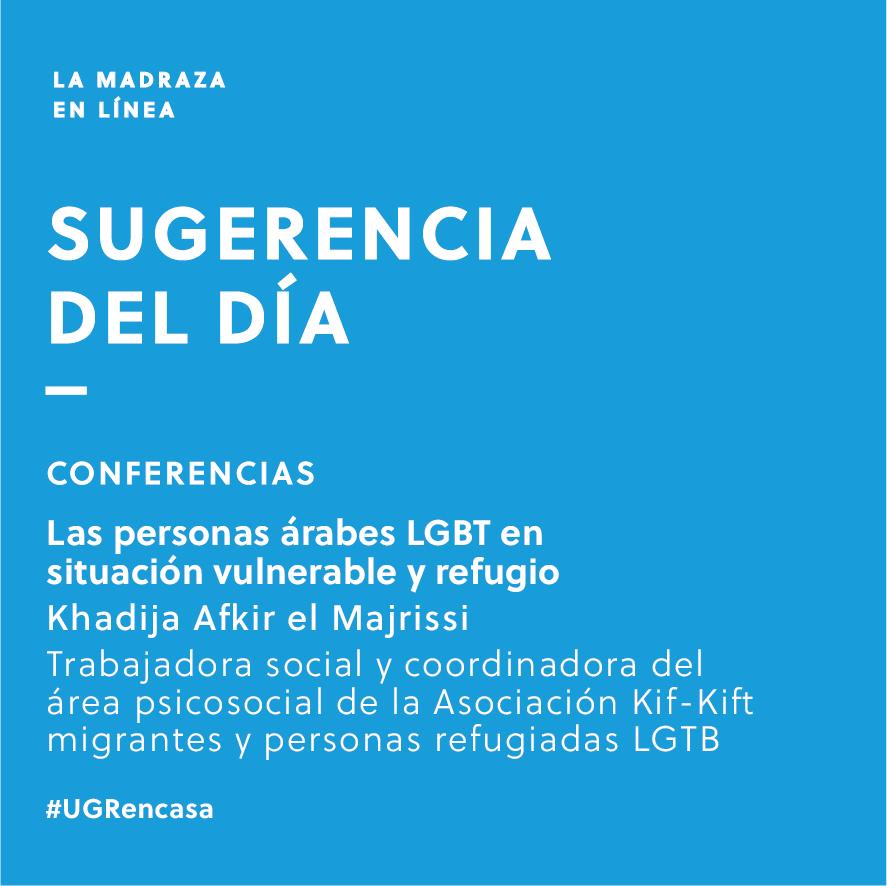 Imagen de portada de Sugerencia del día: Conferencia 'Las personas árabes LGBT en situación vulnerable y refugio'