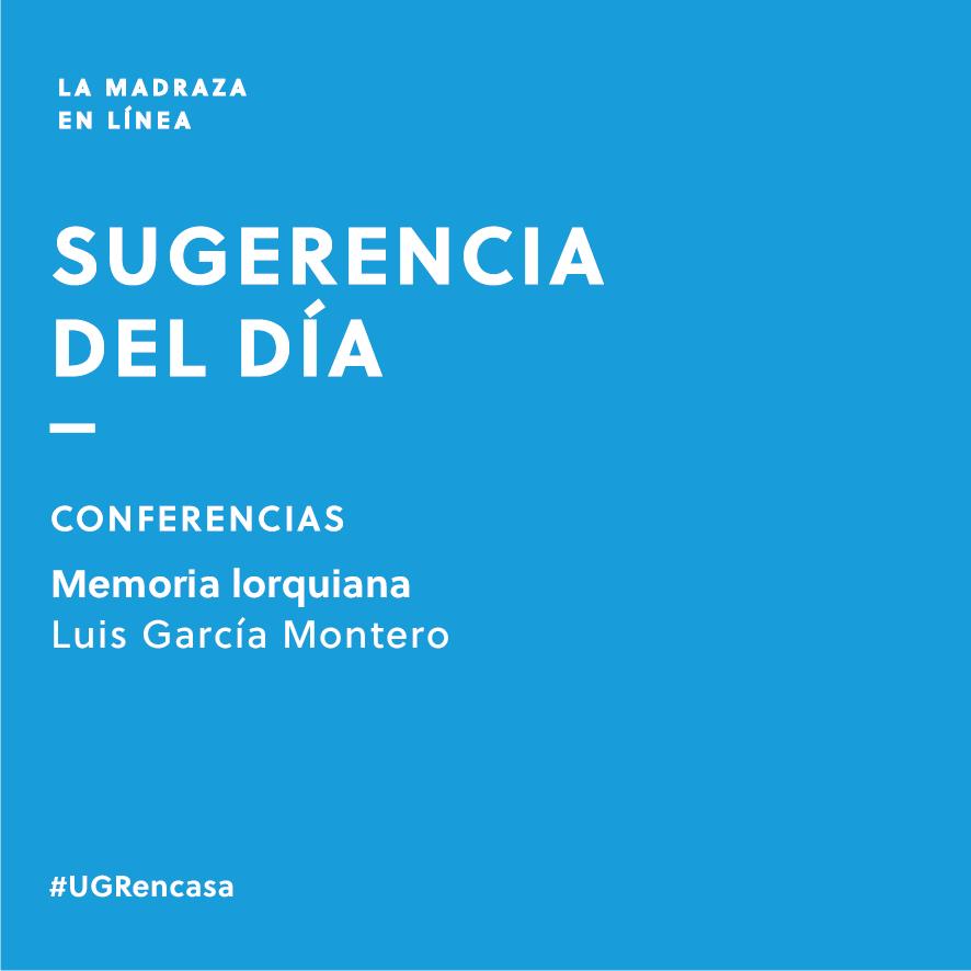 Imagen de portada de Sugerencia del día: Conferencia 'Memoria lorquiana'
