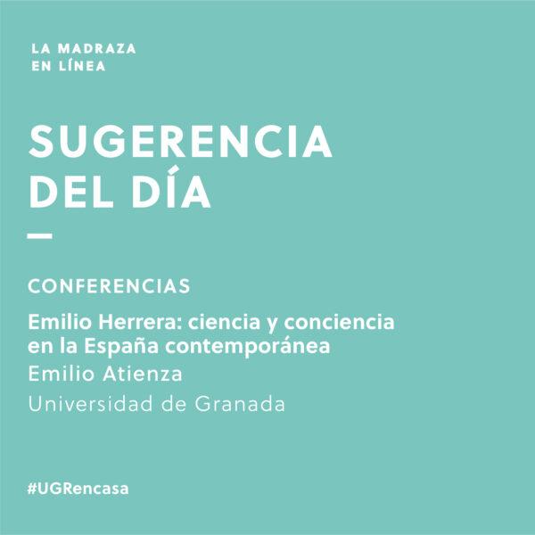 Imagen de portada de Sugerencia del día: Conferencia 'Emilio Herrera – ciencia y conciencia en la España contemporánea'
