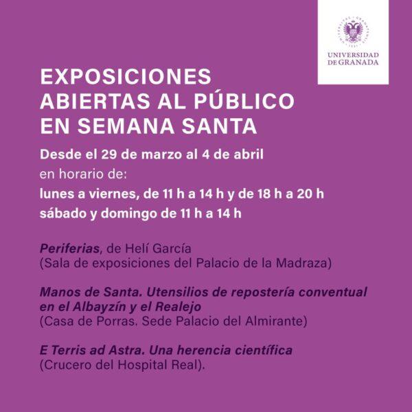 Imagen de portada de Horario exposiciones durante Semana Santa