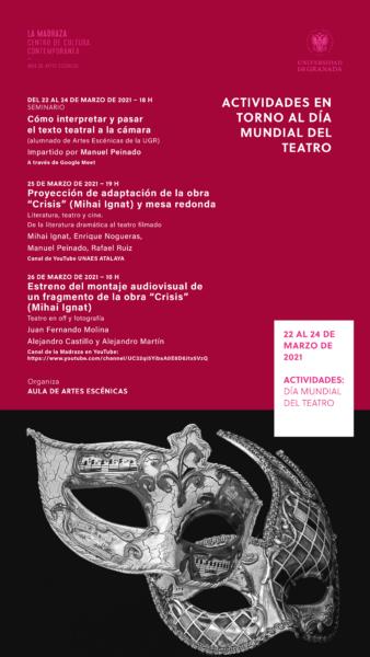 Imagen de portada de Semana dedicada al Día Mundial del Teatro. Del 22 al 26 de marzo de 2021