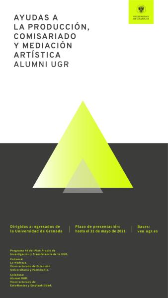 Imagen de portada de P46. Ayudas a la Producción, comisariado y Mediación artística Alumni UGR 2021