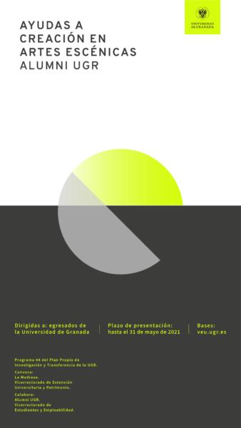 Imagen de portada de P44. Ayudas a la creación en Artes Escénicas Alumni UGR 2021
