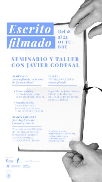 Imagen de portada de Seminario y Taller «Escrito filmado» (con Javier Codesal)