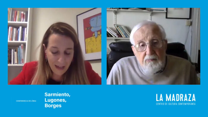 Imagen de portada de Sarmiento, Lugones, Borges