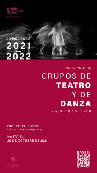 Imagen de portada de Convocatoria de selección de grupos de teatro y de danza vinculados a la UGR 2021/22