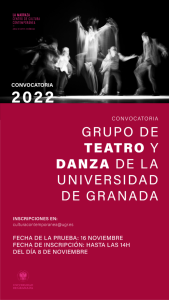 Imagen de portada de Convocatoria de selección de candidatos/as Grupo de Teatro y Danza UGR 2021-22