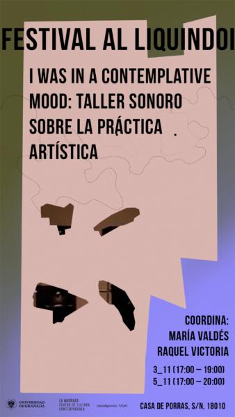 Imagen de portada de I was in a contemplative mood: taller sonoro sobre la práctica artística